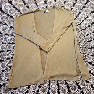H&M Army Green Marbled Cardigan Sweater